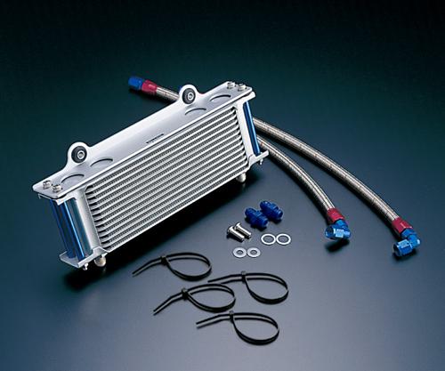 GSX1100S(KATANA)94~00年 ストレートオイルクーラー #6 9-10R用ホースセットブラック仕様 ACTIVE(アクティブ)