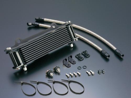 GPZ750F(83~85年) オイルクーラーキット (サイド廻し) ストレート #6 9-10R ブラック仕様 (サーモ対応キット) ACTIVE(アクティブ)
