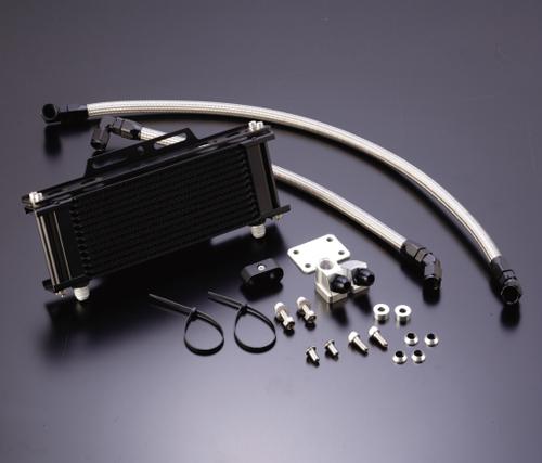 Z1000J・Z1000R オイルクーラーキット(サイド廻し)ストレート #8 9-13R ブラック仕様 (サーモ対応キット) ACTIVE(アクティブ)