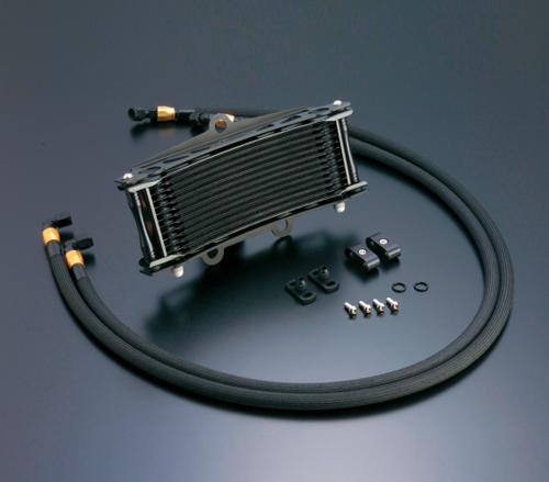 ゼファー750/RS(ZEPHYR) オイルクーラーキット(サイド廻し)ラウンド #6 9-13R ブラック仕様(サーモ対応キット) ACTIVE(アクティブ)