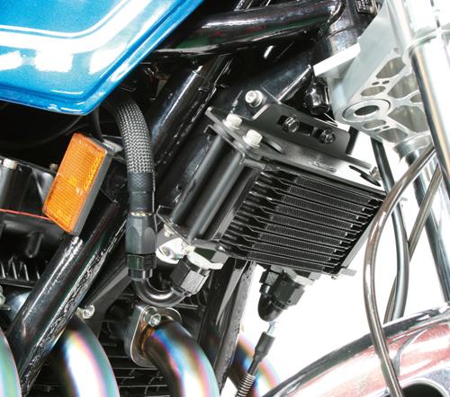 Z1・Z2 オイルクーラーキット(上廻し)ストレート #8 4.5-10R ブラック仕様 ACTIVE(アクティブ)