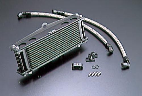 ゼファー400(ZEPHYR)89~95年 オイルクーラーキット ストレート #6 9-13R ブラック仕様 (サーモ対応キット) ACTIVE(アクティブ)