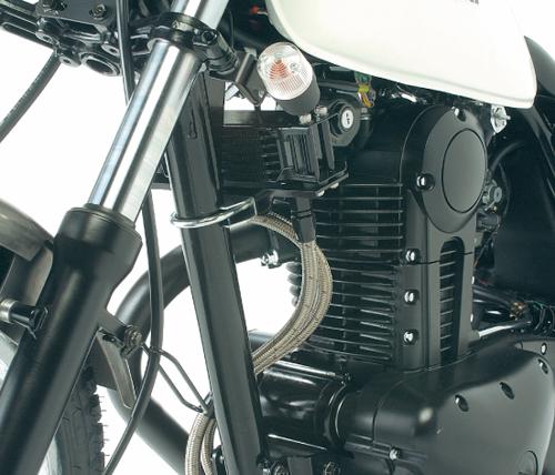 250TR(02~03年) オイルクーラーキット (縦) ストレート #6 4.5-7R ブラック仕様 ACTIVE(アクティブ)