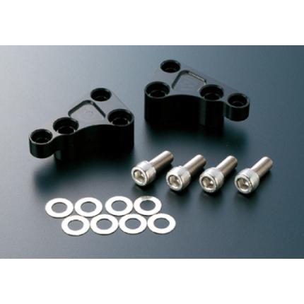 フロントキャリパーサポート brembo40mmピッチ対応 大径ローター用 ブラック ACTIVE(アクティブ) TDM850/900(92~99年)/(03年)