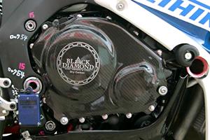 CBR1000RR(04~07年) クラッチ&パルスカバー ドライカーボン製 ツヤ有 クリア塗装済 A-TECH(エーテック)