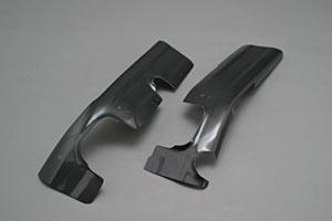 TL1000R(97~03年) フレームヒートガードB 左右セット FRP/黒 A-TECH(エーテック)