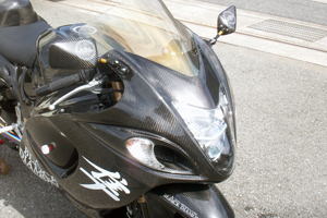 GSXR1300R 隼(08年~) アッパーカウル FRP/黒 A-TECH(エーテック)
