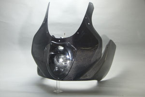 超可爱の GSX1400(01年~) ハーフカウル ルナソーレ車検対応ヘッドライト クリアスクリーン仕様 平織カーボン A-TECH(エーテック):バイク用品・パーツのゼロカスタム, V-Stella:dbd86618 --- fricanospizzaalpine.com
