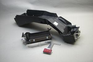 GSX1400(01年~) フェンダーレスキット 平織カーボン ウインカーレンズ ブルー A-TECH(エーテック)