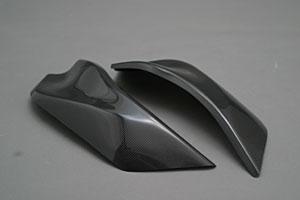 YZF-R1(98~99年) フレームヒートガード 左右セット FRP/黒 A-TECH(エーテック)