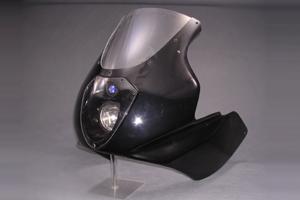 XJR1300(98~07年) LunaSole(ルナソーレ) ハーフカウル クリアスクリーン付 FRP/白 A-TECH(エーテック)