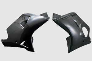 CBR1100XX(97~98年) ロアーカウル 左右セット FRP/白 A-TECH(エーテック)