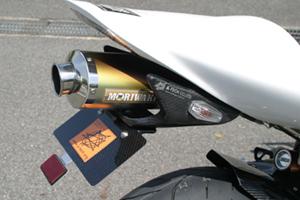 CBR1000RR(04~07年) フェンダーレスキット 小型ウィンカー仕様 綾織カーボン アンバー(オレンジ) A-TECH(エーテック)