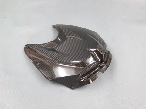 BMW S1000RR(10~11年) タンクフロントカバー FRP/黒 A-TECH(エーテック)