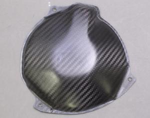 ZX-6R(07~08年) ジェネレーターカバー ドライカーボンツヤ有 ツヤ有 クリア塗装済 A-TECH(エーテック)