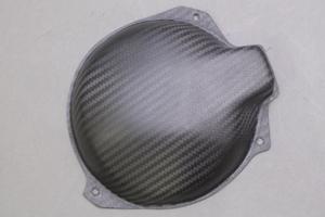 ZX-6R(05~06年) ジェネレーターカバー ドライカーボンツヤ有 ツヤ有 クリア塗装済 A-TECH(エーテック)
