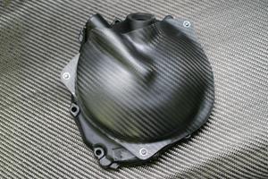 ZX-10R(06~07年) クラッチカバー ドライカーボン ツヤ有 クリア塗装済 A-TECH(エーテック)