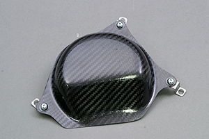 ZRX1200R(01~08年) ジェネレーターカバー 綾織ドライカーボン ツヤ有 クリア塗装済 A-TECH(エーテック)