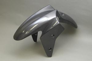 Ninja250R(ニンジャ)08~12年 フロントフェンダーSTD 綾織カーボン A-TECH(エーテック)