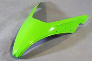 Ninja400R(ニンジャ)10年~ スクリーントリム(ノーマルスクリーン用) 綾織カーボン A-TECH(エーテック)