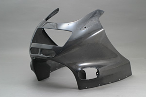 ZZR1100C(90~92年) アッパーカウルSPL カーボンケブラ A-TECH(エーテック)
