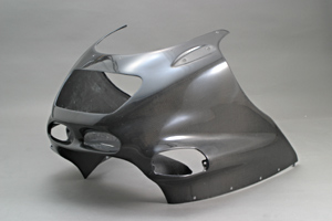 ZZR1100D(93~01年) アッパーカウル FRP/白 A-TECH(エーテック)