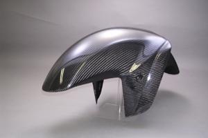 ZZR1400(06~11年) フロントフェンダーSTD FRP/黒 A-TECH(エーテック)