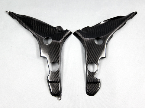 Ninja250(ニンジャ)13~17年 フレームカバー(左右セット) FRP/黒(FB) A-TECH(エーテック)