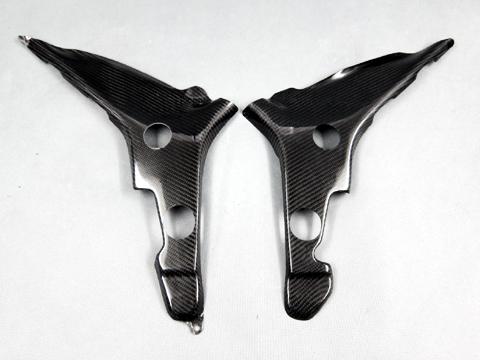 Ninja250(ニンジャ)13~17年 フレームカバー(左右セット) 綾織カーボン(T/C) A-TECH(エーテック)