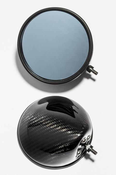 Z1000(14年~) 綾織ドライカーボンミラー(タイプ3) アルミシャフトセット A-TECH(エーテック)
