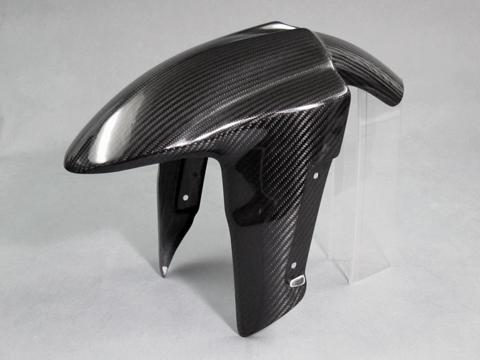 Z1000(14年~) フロントフェンダーSPL 綾織カーボン(T/C) A-TECH(エーテック)