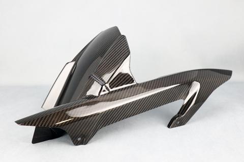 Z900RS(18年) 平織ドライカーボン 純正タイプ リアフェンダー クリア塗装済 A-TECH(エーテック)