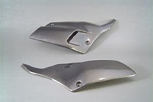 Dトラッカー(D-TRACKER)01~05年 サイドカバーSPL左右セット カーボンケブラー(C/K) A-TECH(エーテック)