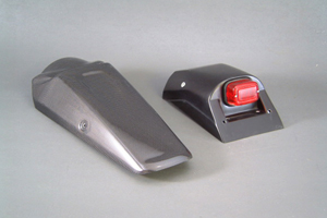 Dトラッカー(D-TRACKER)01~03年 テールフェンダーキット テールランプ付 FRP/黒(FB) A-TECH(エーテック)