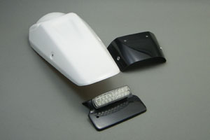 Dトラッカー(D-TRACKER)04~07年 テールフェンダーキット LEDテールランプ付 FRP/黒(FB) A-TECH(エーテック)