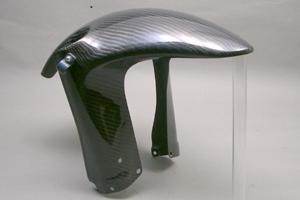 DトラッカーX(D-TRACKER-X)08年~ 倒立フロントフェンダー FRP/黒(FB) A-TECH(エーテック)