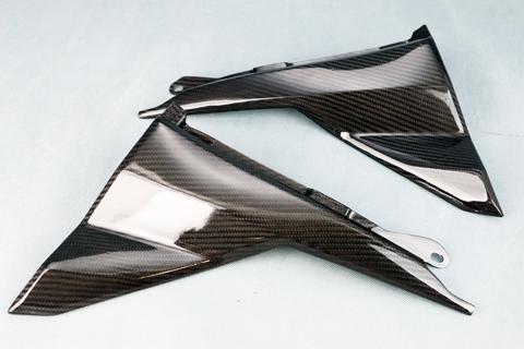 KATANA(刀)19年 ドライカーボンケブラー 純正タイプ サイドカバー クリア塗装済 A-TECH(エーテック)