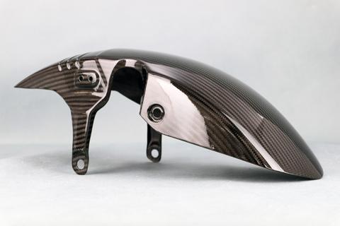 KATANA(刀)19年 平織ドライカーボン 純正タイプフロントフェンダー クリア塗装済 A-TECH(エーテック)