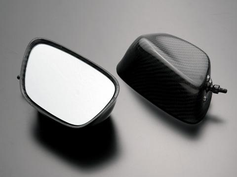 GPZ900R Ninja(ニンジャ) 綾織ドライカーボンミラー(タイプ1) カーボンシャフトセット A-TECH(エーテック)