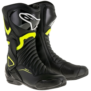 SMX6 レースブーツ ブラック/蛍光イエロー 40/25.5cm アルパインスターズ(alpinestars)
