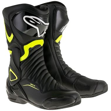SMX6 レースブーツ ブラック/蛍光イエロー 44/28.5cm アルパインスターズ(alpinestars)