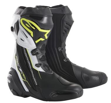 スーパーテックR ブーツ ブラック/イエローFLUO/ホワイト 41/26.0cm アルパインスターズ(alpinestars)