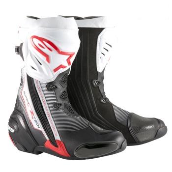 スーパーテックR ブーツ ブラック/レッド/ホワイト 41/26.0cm アルパインスターズ(alpinestars)