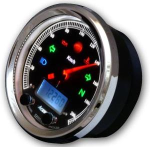 新色追加して再販 送料無料 CA085シリーズ多機能クラシカルメーター 12000rPm エースウェル 好評受付中 ACEWELL ブラックパネル