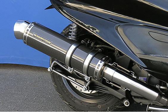 マジェスティ250(MAJESTY)5GM・5SJ GGタイプマフラー レーシングタイプ ブラックカーボン ASAKURA(浅倉商事)