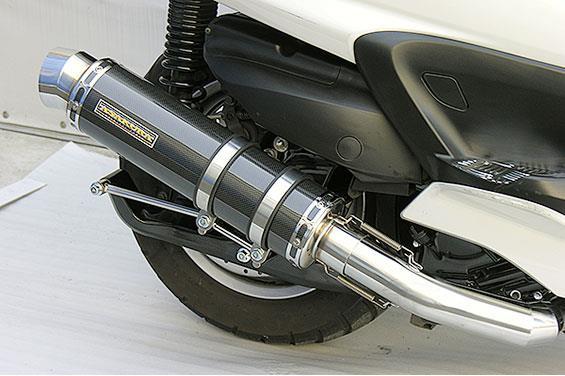 グランドマジェスティ400(O2センサー無) GGタイプマフラー レーシングタイプ ブラックカーボン ASAKURA(浅倉商事)