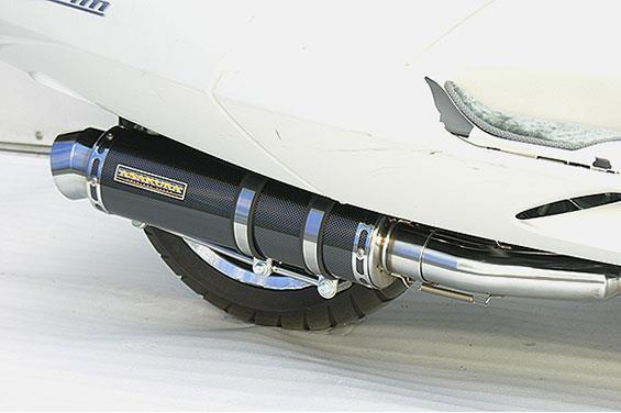 マグザム(MAXAM)SG21J GGタイプマフラー レーシングタイプ ブラックカーボン ASAKURA(浅倉商事)