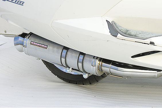 マグザム(MAXAM)SG17J GGタイプマフラー レーシングタイプ ホワイトカーボン ASAKURA(浅倉商事)