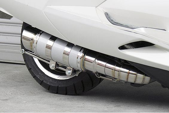 マグザム(MAXAM)SG17J HEタイプマフラー RSタイプ ホワイトカーボン ASAKURA(浅倉商事)