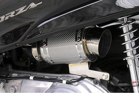 フォルツァ(FORZA)MF08 エアクリーナーキットレーシングタイプ ホワイトカーボン ASAKURA(浅倉商事)